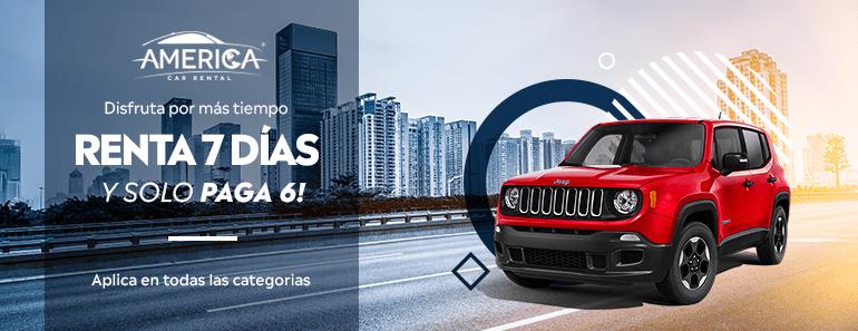 Renta un auto en Monterrey por 6 días y te damos un gratis