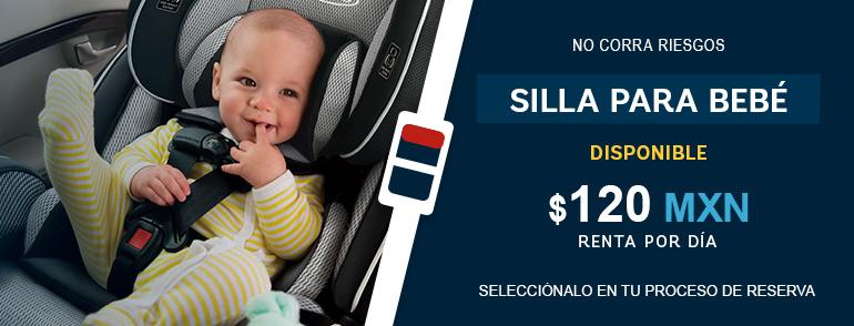 Renta de autos y Camionetas familiares en Ciudad de México con silla para bebé