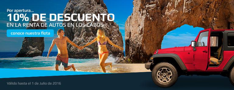 Renta un auto en Los Cabos y obt�n un 10% de Descuento