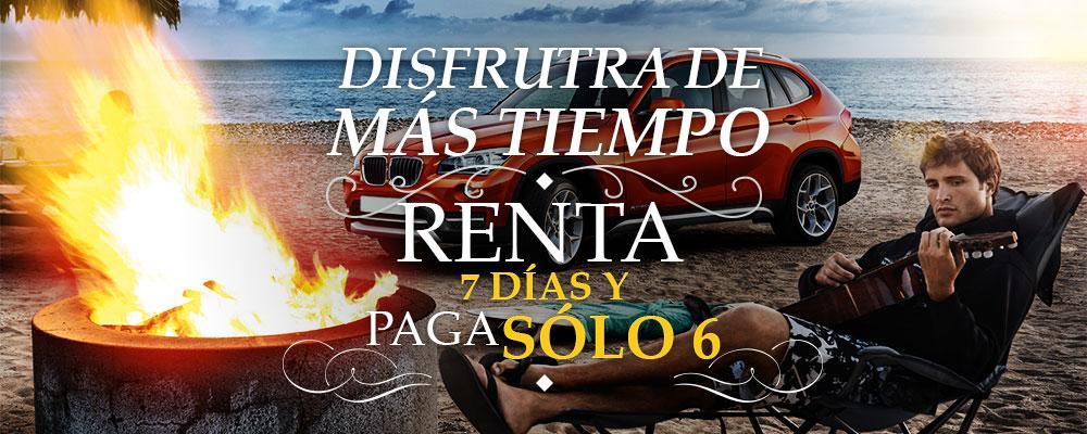 Lowest Alquiler de Coches en, Playa del Carmen, la Riviera Maya y Tulum | Disfruta de más tiempo rente 7 dias y pague solo 6