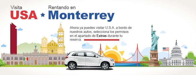 Renta un auto y Viaja de México a USA